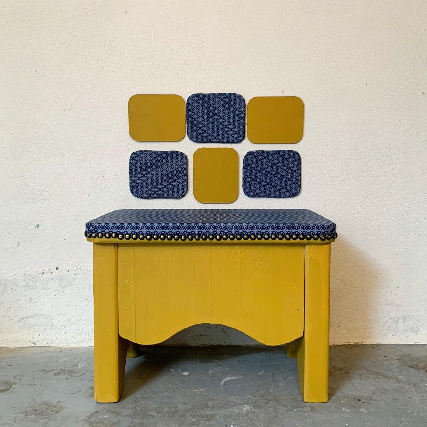 washi yellow stool