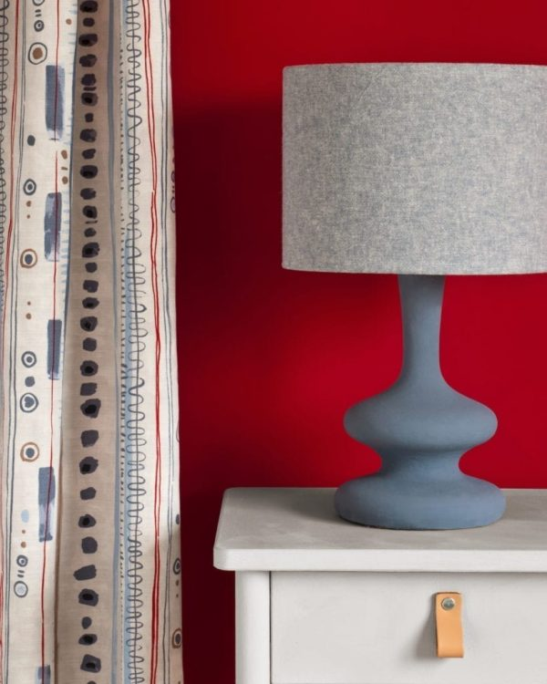 Chicago-Grey-side-table-Piano-in-Old-Violet-curtain-Emperors-Silk-Wall-Paint-Linen-Union-in-Old-Violet-Old-White-lampshade
