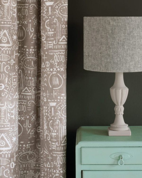 Duck-Egg-Blue-side-table-Graphite-Wall-Paint-Tacit-in-French-Linen-curtain-Linen-Union-in-Graphite-Old-White-lampshade