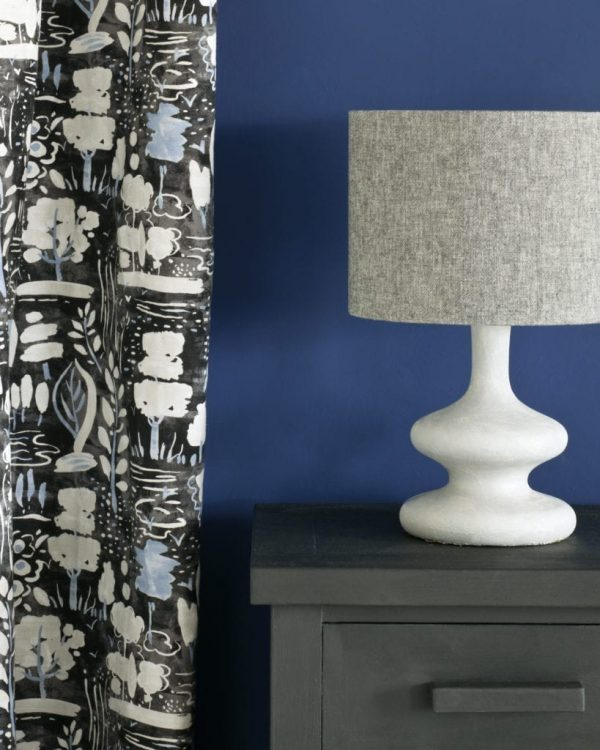 Graphite-side-table-Napoleonic-Blue-Wall-Paint-Dulcet-in-Graphite-curtain-Linen-Union-in-Graphite-Old-White-lamshade