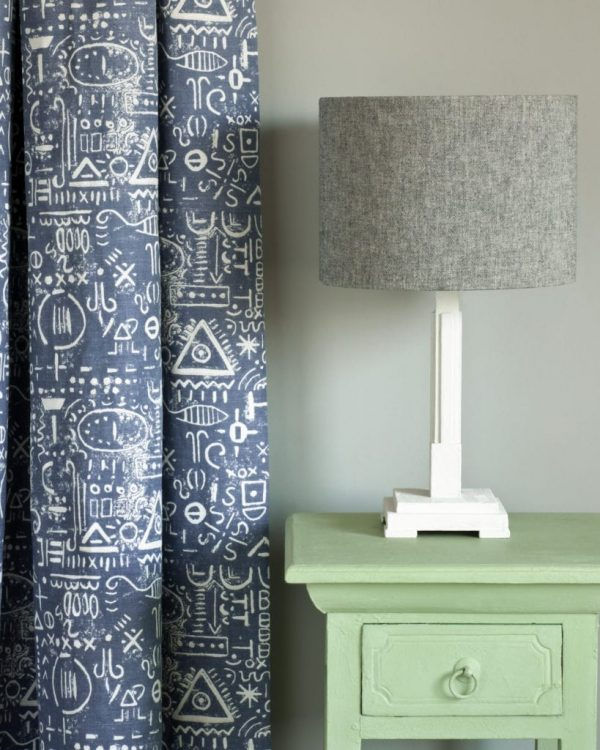 Lem-Lem-side-table-Tacit-in-Old-Violet-curtain-Linen-Union-in-Graphite-Old-White-lampshade-