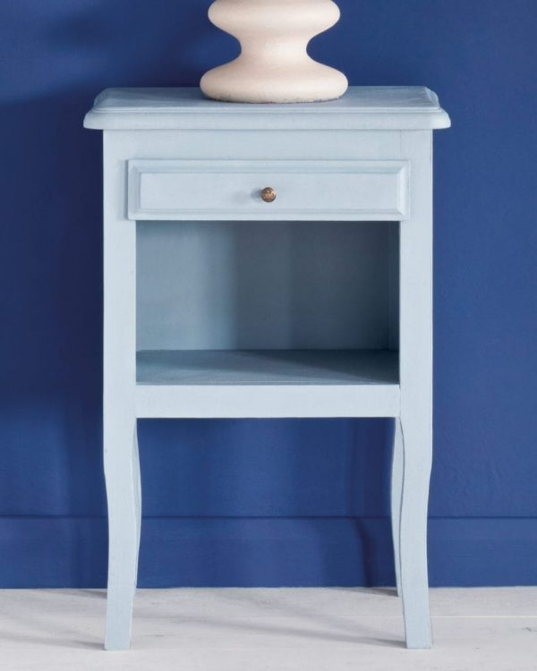 Louis-Blue-side-table-Napoleonic-Blue-Wall-Paint