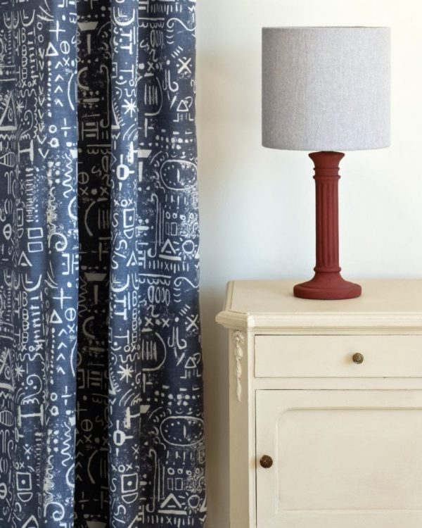 Old-Ochre-side-table-Tacit-in-Old-Violet-curtain-Linen-Union-in-Old-White-Paloma-lampshade