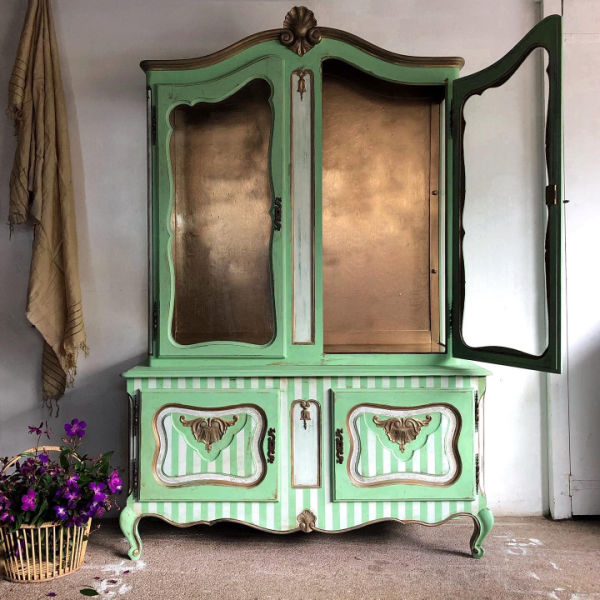 green-large-stipe-armoire