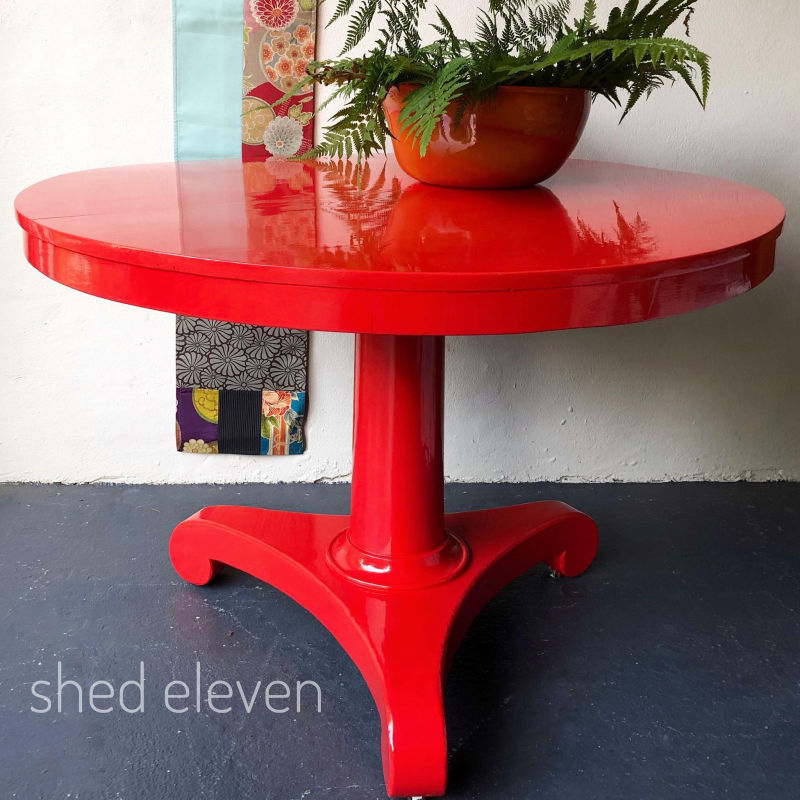 red-shiny-table