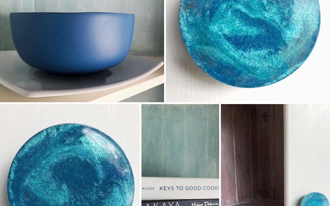 Resin and Chalk Paint Cabinet Handles