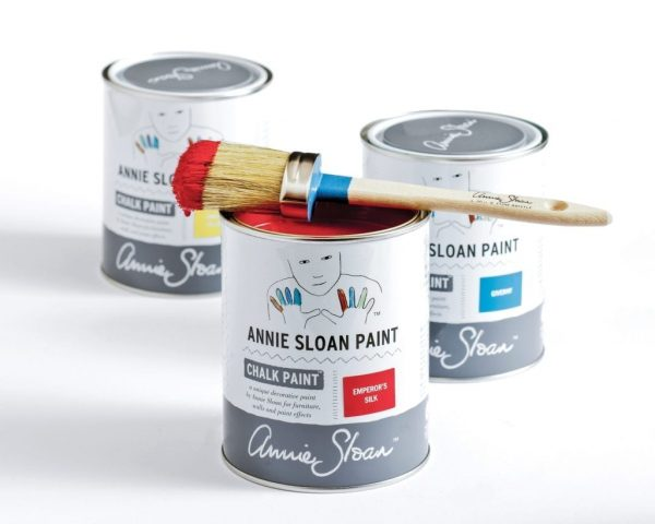 Chalk-Paint-by-Annie-Sloan-1-litre-tins-in-Emperors-Silk-Giverny-and-English-Yellow